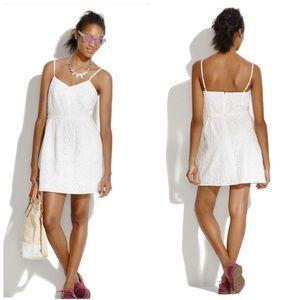 Madewell • White Eyelet Cami Dress